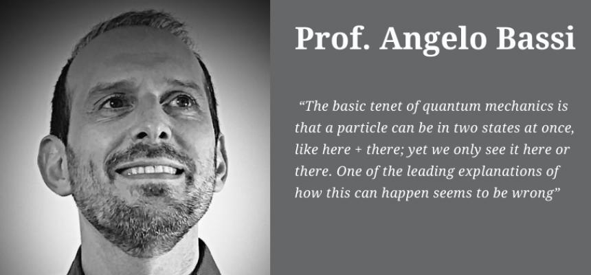 Prof. Angelo Bassi: sua la firma del secondo miglior articolo dell'anno su Science