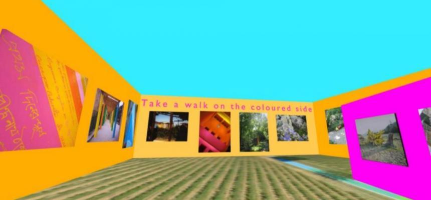 Antonio Giacomin - ricostruzione virtuale di una mostra