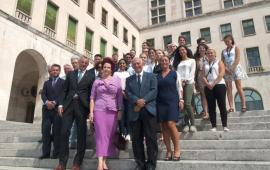 Visit of the Latvian Ambassador for the closing ceremony of the Nonlinear Life Summer School