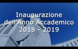 Embedded thumbnail for Inaugurazione dell'Anno Accademico 2018/2019 - L'intera cerimonia