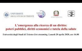 Embedded thumbnail for Seminario: Il diritto dell'emergenza alla prova del Coronavirus - 20 aprile 2020