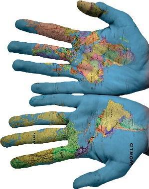 mani geografiche