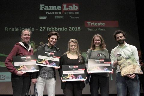 i vincitori di Famelab 2018