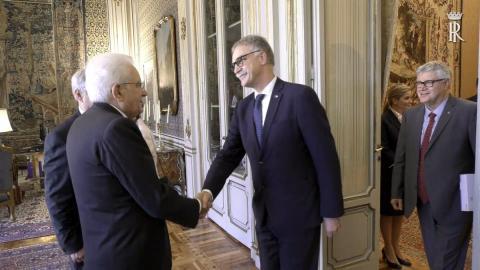 Il Presidente Mattarella e il Rettore