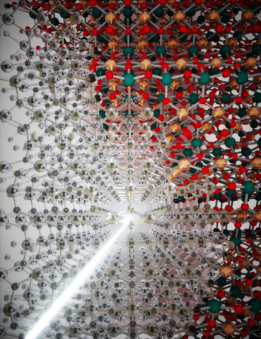 Artistic impression of vibrationally induced transparency in CuGeO3