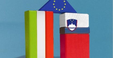 bandiere italia e slovenia