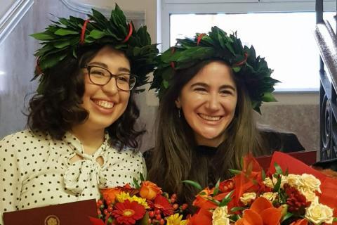 Chiara Vitali and Jasmine Mazzarello
