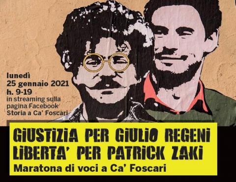 Maratona di voci a Ca' Foscari - Giustizia per Regeni, libertà per Zaki