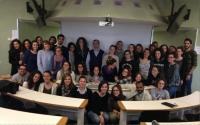 Gli studenti assieme al prof. Rashid Giniatullin, Visiting Professor del Corso di Laurea