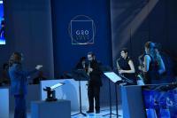 UniTS al G20 Scienza: online la playlist con i video dell'evento-G20 tartini-Un momento della dimostrazione: l'esibizione del Sax Quartet del Conservatorio Tartini di Trieste