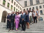 Visita dell'ambasciatrice della Lettonia per la cerimonia conclusiva della Summer School Nonlinear Life