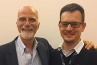 Il Prof. Maurizio Prato e il Dr. Luka Ðorđević